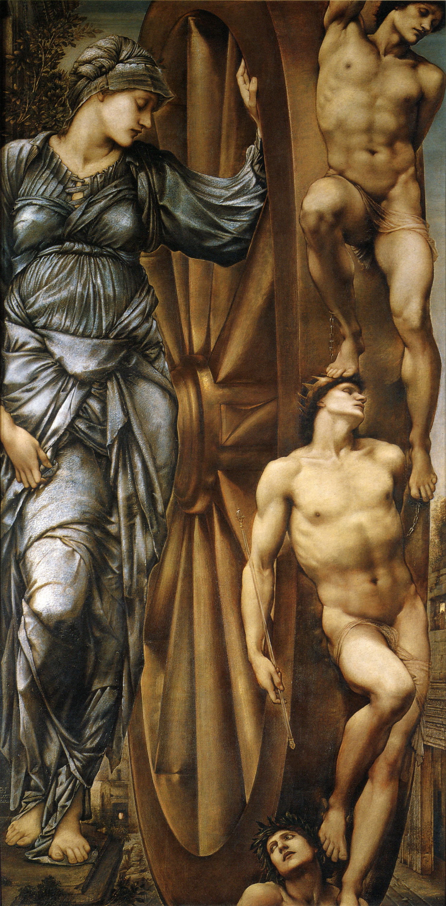 An image of 'The Wheel of Fortune' by Edward Burne-Jones [Public domain]