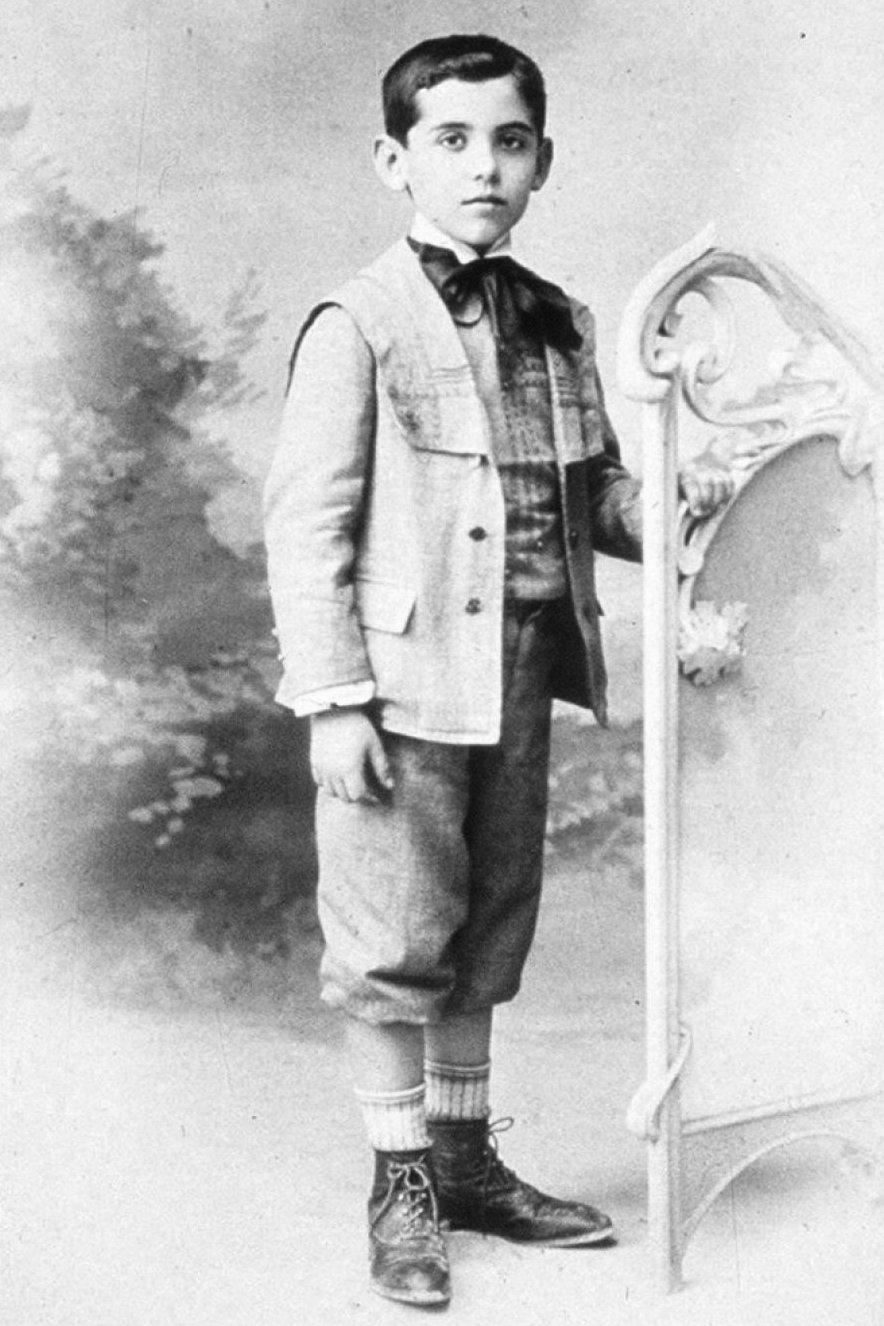 Federico García Lorca a los seis años de edad.