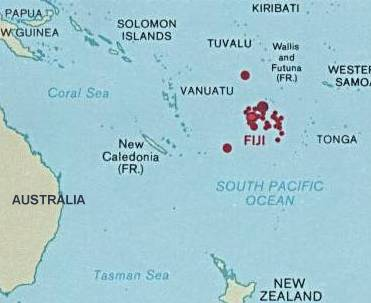 Fiji's location in Oceania. Fiji and oceania.jpg