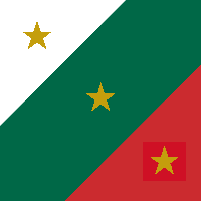 Flag of the Army of Three Guarantees, 1821 Flag Trigarante Army.png