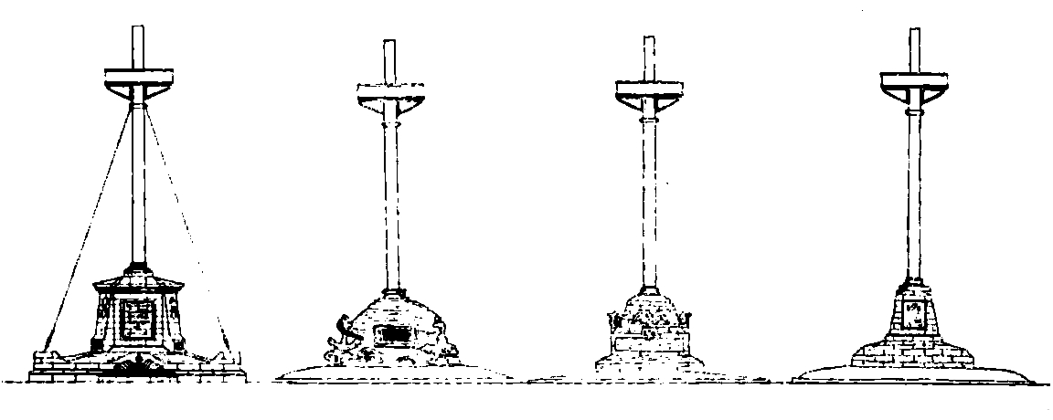 file:four rejected designs for uss maine mast memorial - commission of fine  arts 1915 jpg