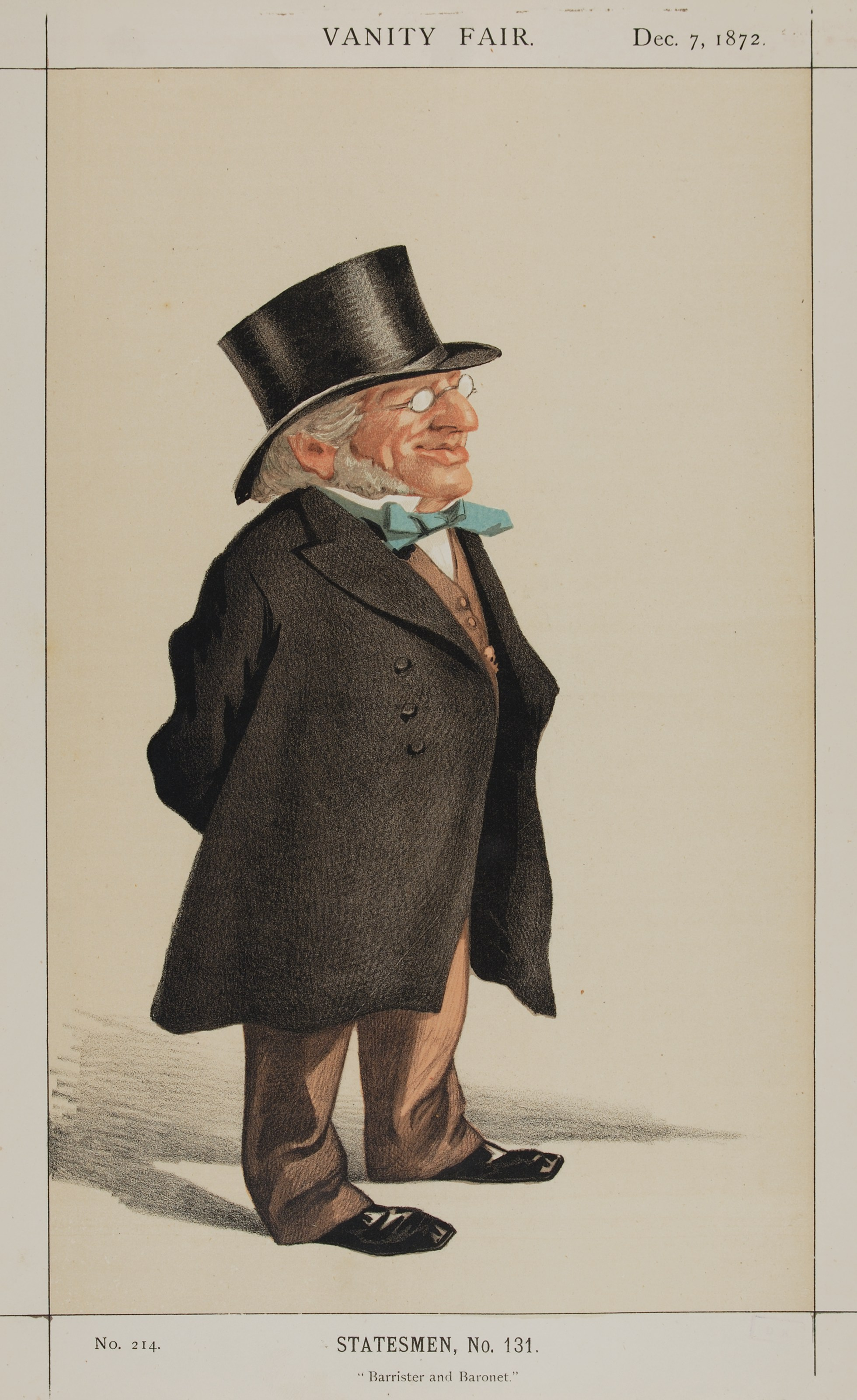 """""""Barrister and Baronet""""<br>Goldsmid as caricatured by [[James Tissot]] in [[Vanity Fair (British magazine)