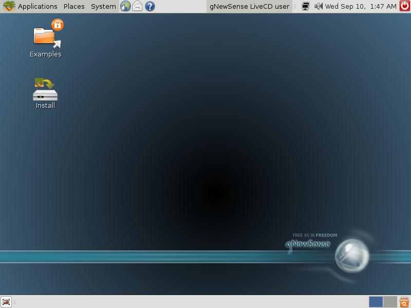 Interface de uma distribuição Linux