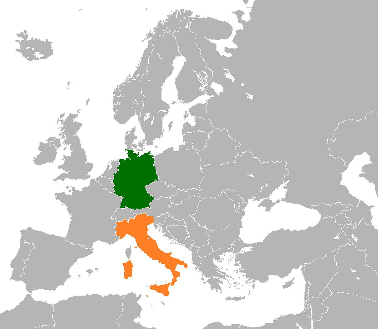 Map Of The World Italy.Germany Italy Relations Wikipedia