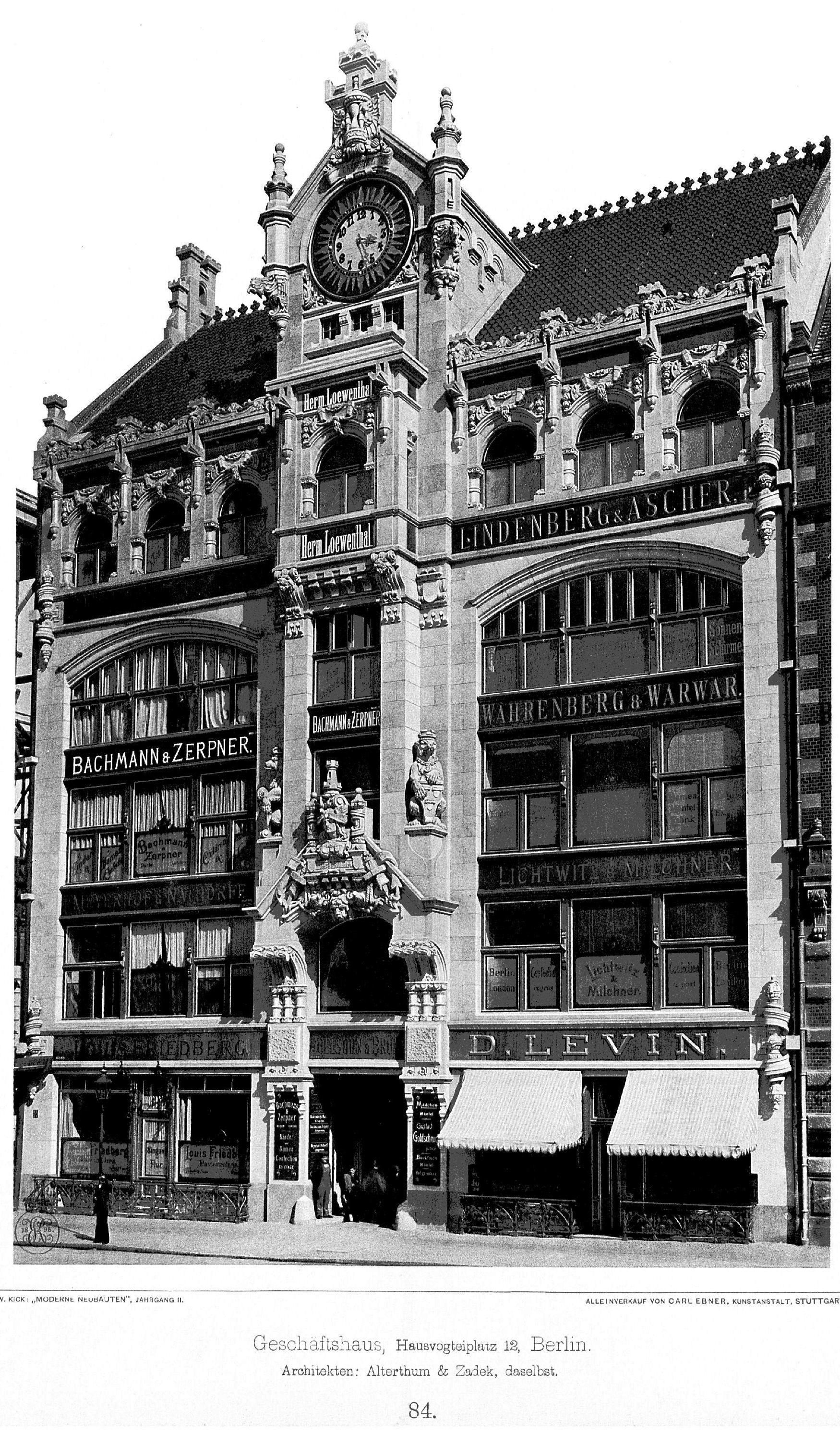 Datei gesch ftshaus hausvogteiplatz 12 berlin architekten alterthum zadek berlin tafel 84 - Architekten deutschland ...