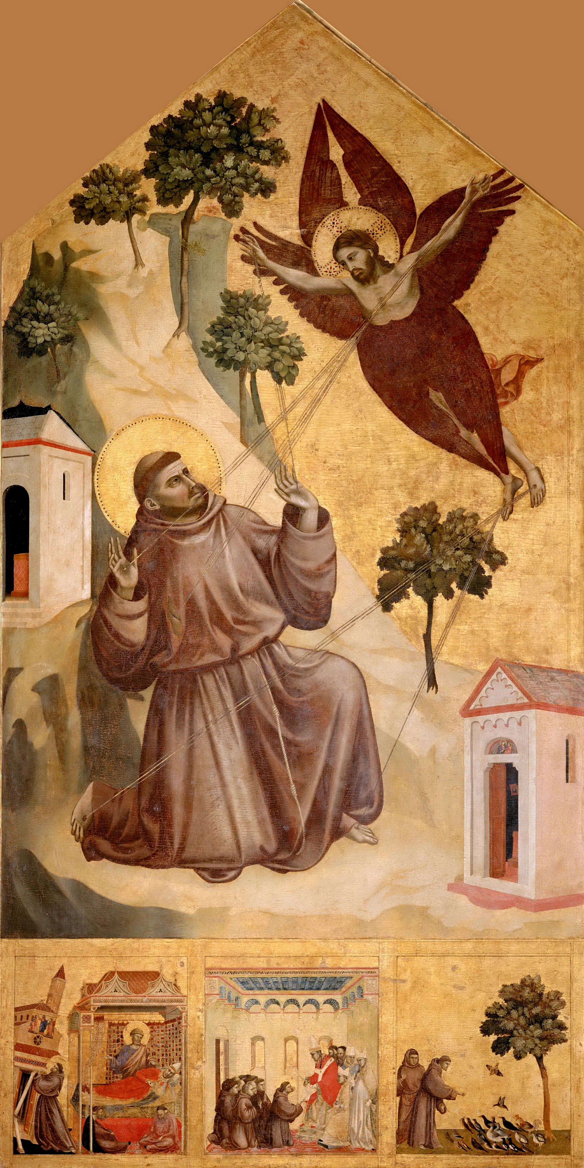 Giotto. Stigmatization of St Francis. 1295-1300. 314x162cm. Louvre, Paris.jpg