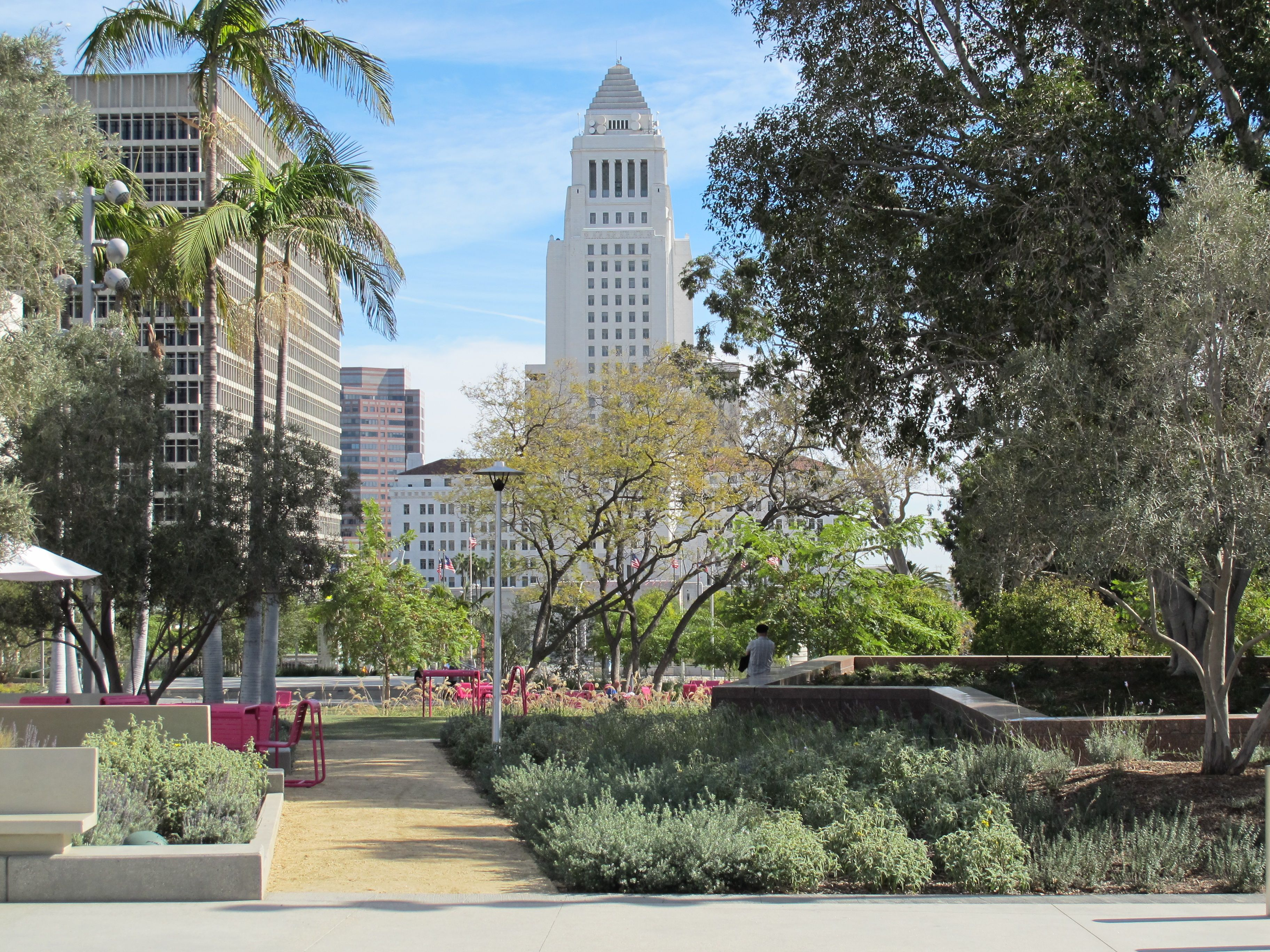 City Of Los Angeles Organizational Chart: Grand Park Los Angeles view toward City Hall.jpg - Wikipedia,Chart