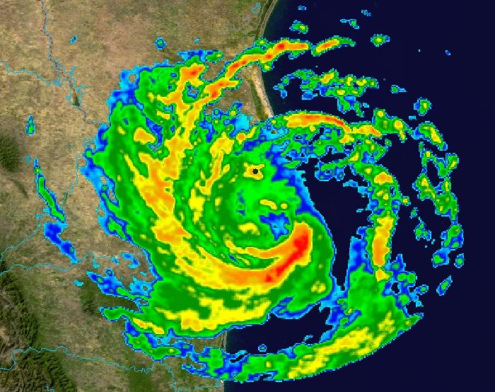 Hurricane Erika Radar Image