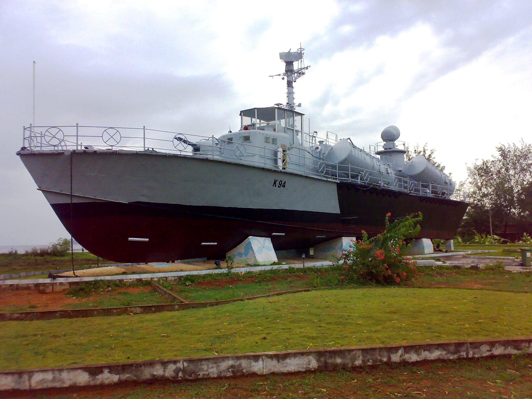 INS Chapal Warship Museum at Karwar Beach