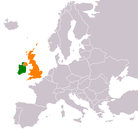 United Kingdom On The World Map.Ireland United Kingdom Relations Wikipedia