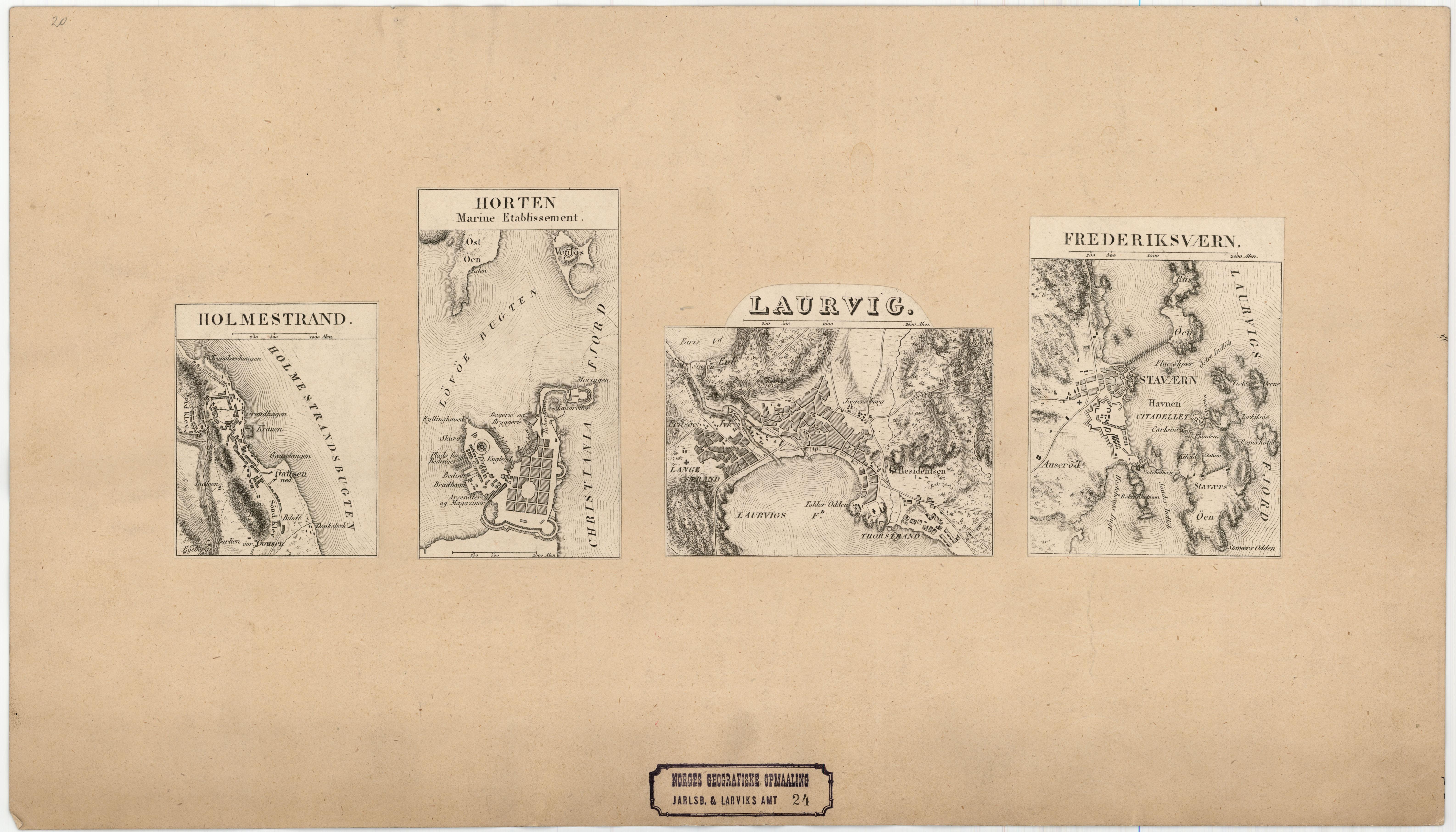 horten kart File:Jarlsberg og Larviks amt nr 24  Kart over Holmestrand; Horten  horten kart