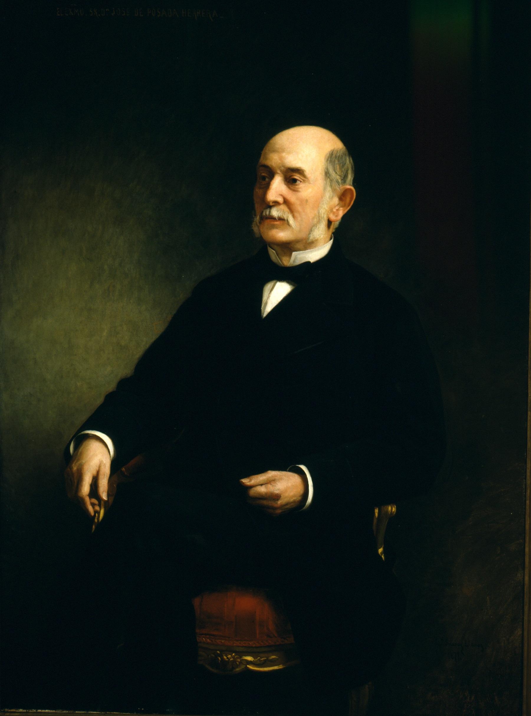 José Posada Herrera retratado por Ignacio Suárez Llanos.