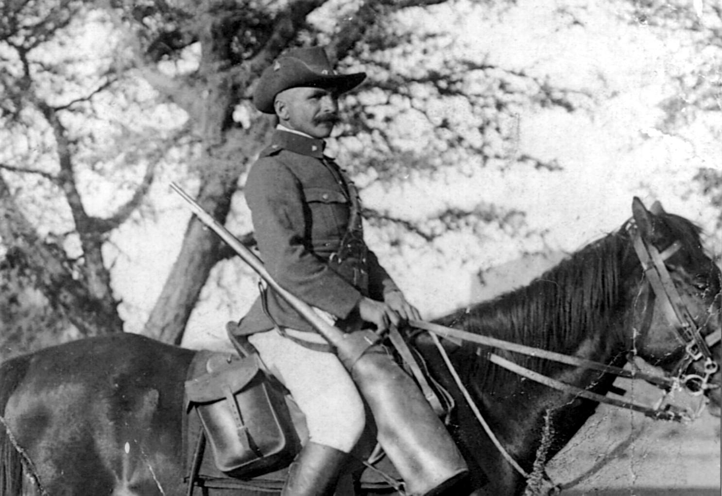 1914: Deutscher Kavallerist in Deutsch-Südwestafrika