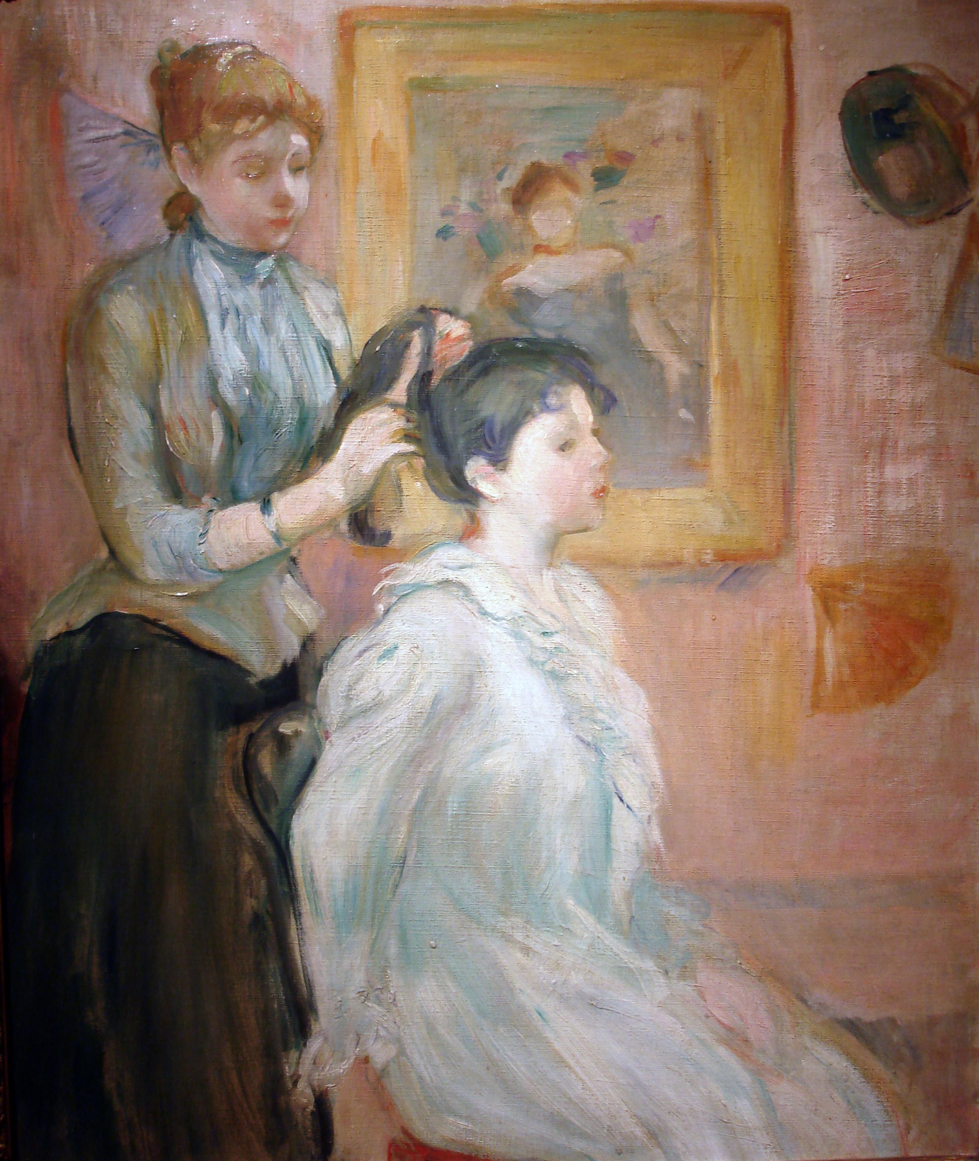 File La Coiffure Berthe Morisot Jpg Wikipedia