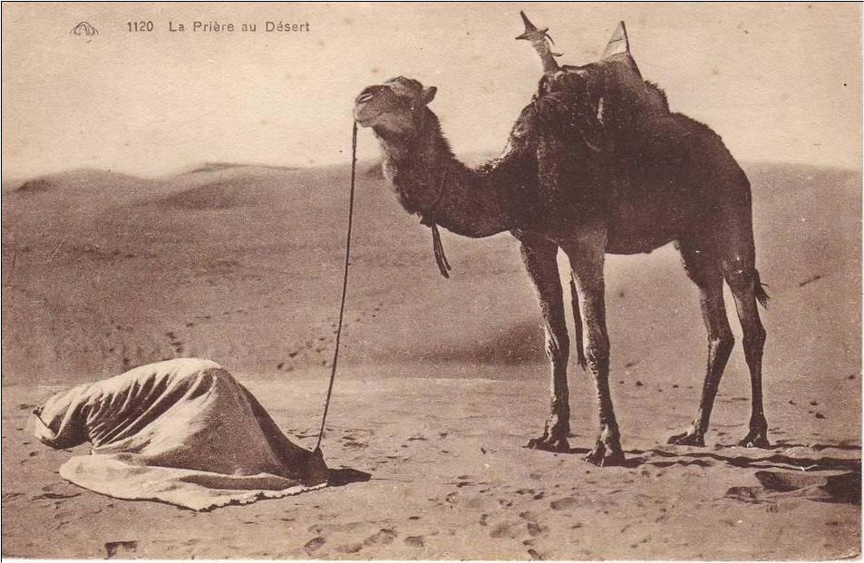رحلة إلى بسكرة بالجنوب الجزائري La_priere_du_desert_Marius_Maure