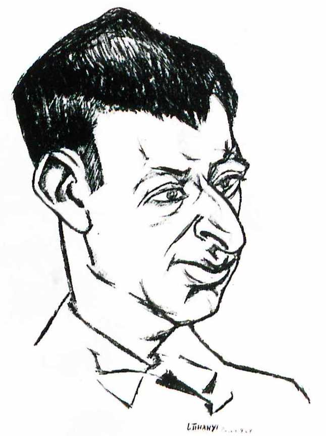 Yvan Goll sketched in 1927 by Lajos Tihanyi