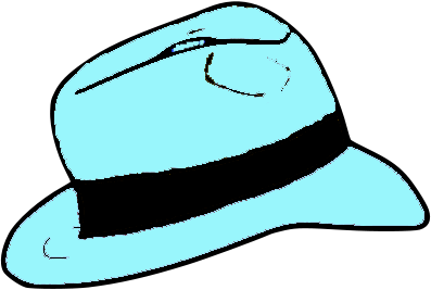 Light Blue Fedora hat.png