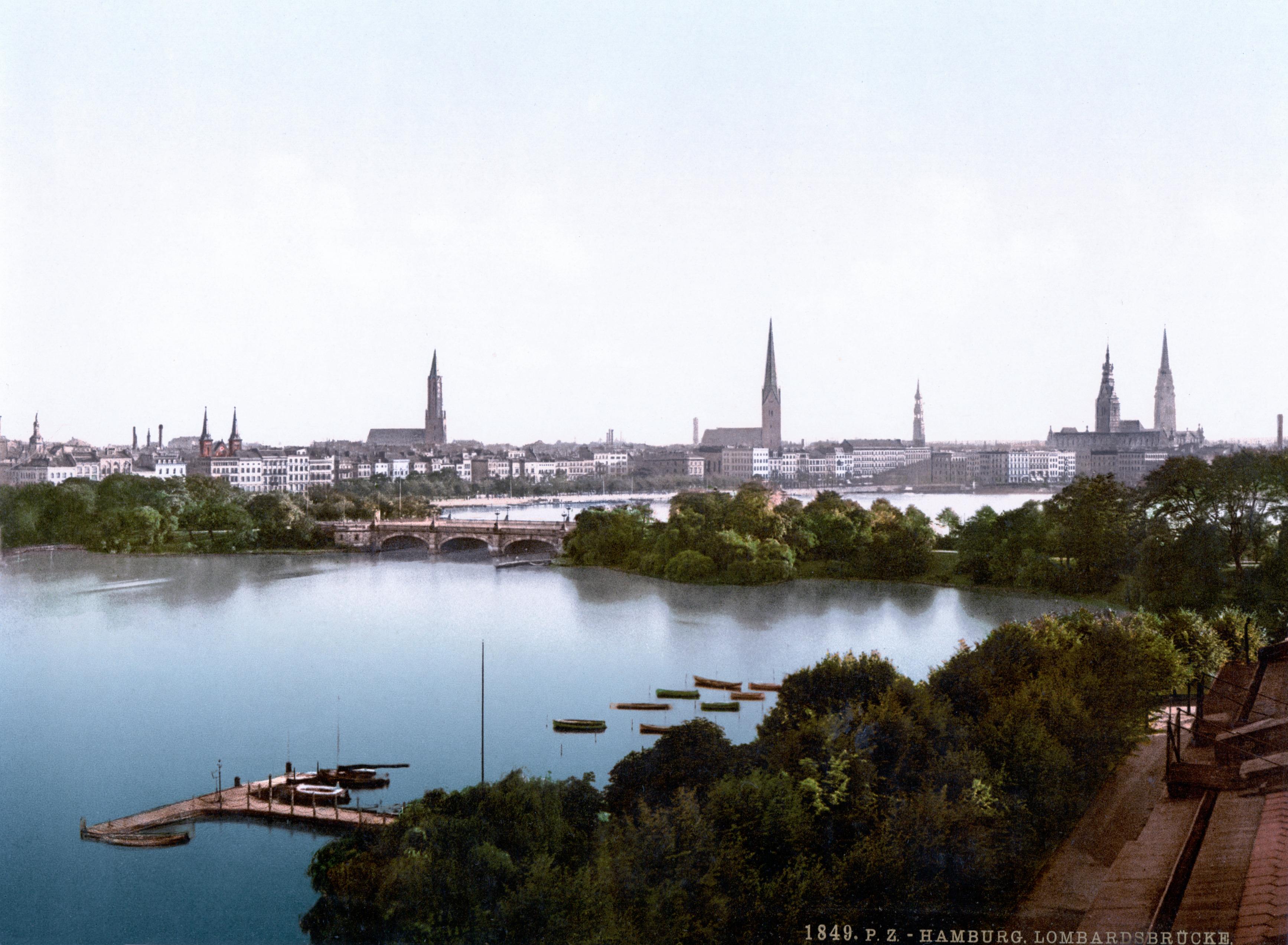 Dateilombardsbrücke In Hamburg C 1895jpg Wikipedia
