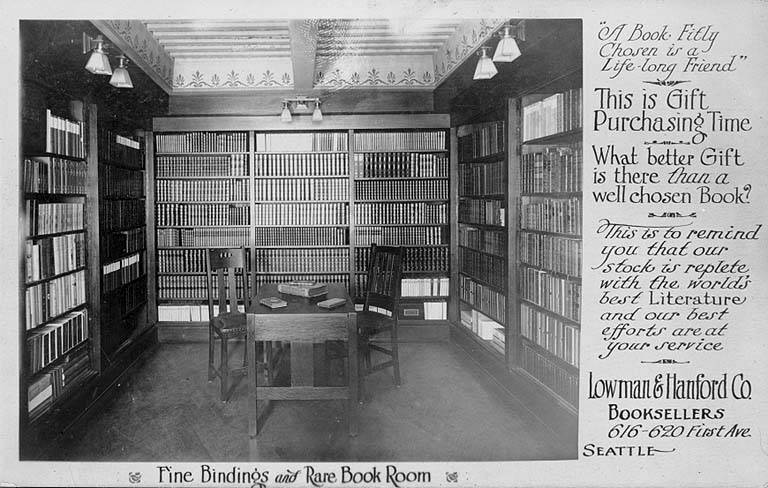 File:Lowman and Hanford Co booksellers store interior, 1st Ave, ca 1908 (SEATTLE 1756).jpg