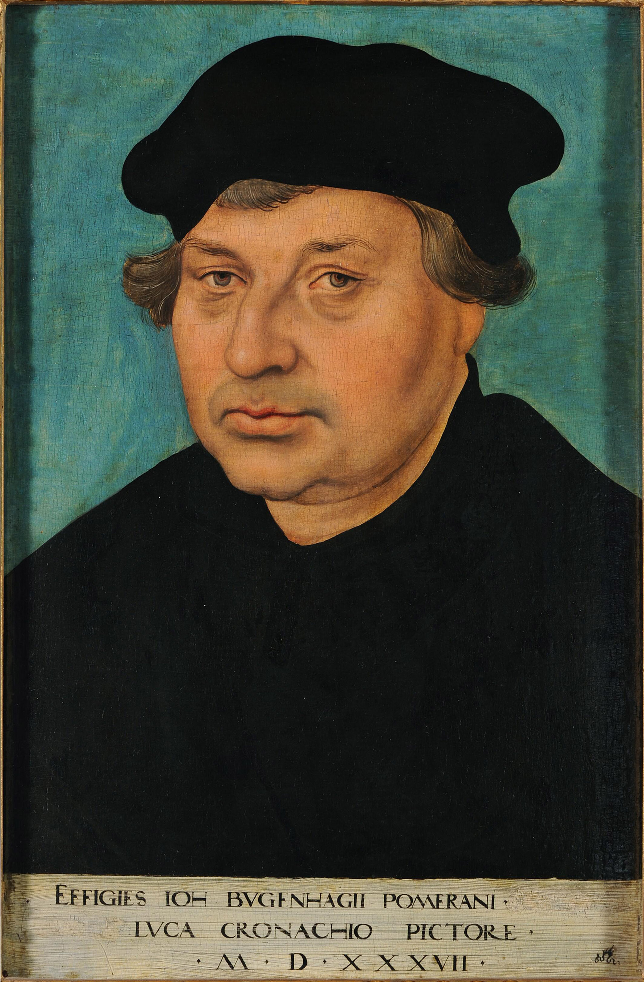 Bugenhagen in 1537 by [[Lucas Cranach the Elder|Lucas Cranach]]