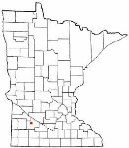 Location of Seaforth, Minnesota