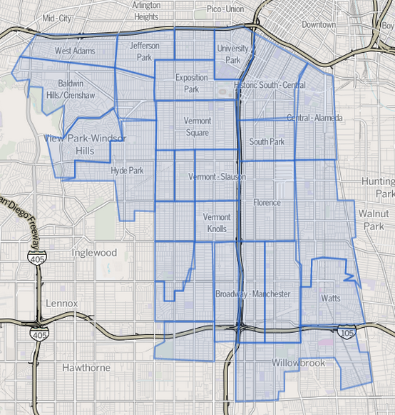 South Central Los Angeles Map ~ CINEMERGENTE