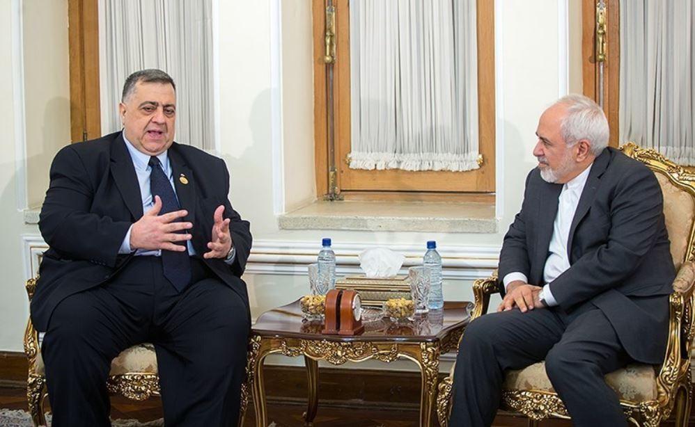 Javad Zarif meets with Syrian Parliament Speaker Hamoud Sabbegh