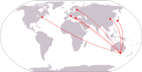 Melbourne sister cities map.png