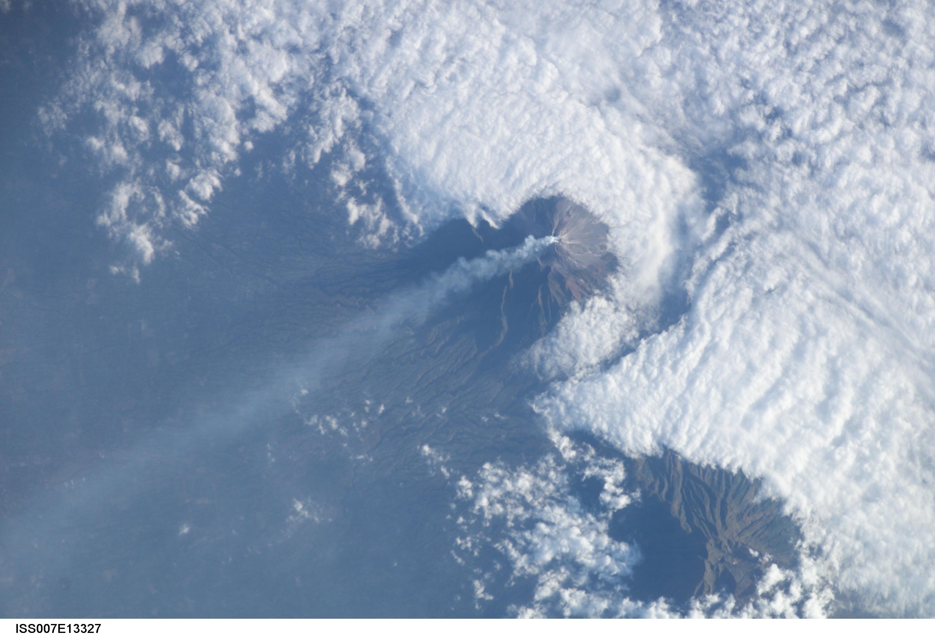 Извержение индонезийского вулкана