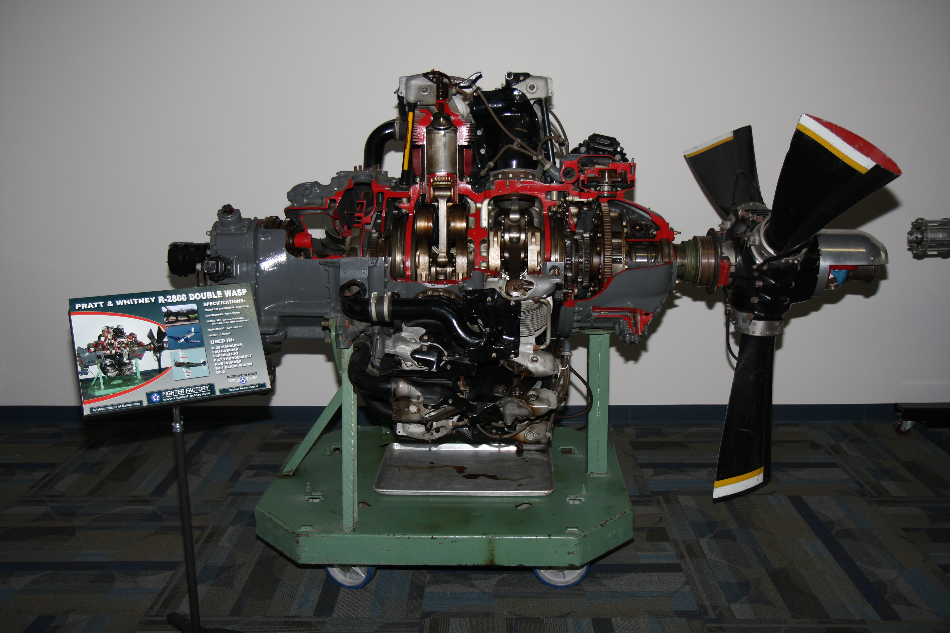 File:Military Air Museum's Pratt and Whitney R 2800 Double
