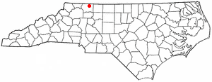 Location of Mount Airy, North Carolina