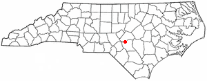 Location of Spring Lake, North Carolina