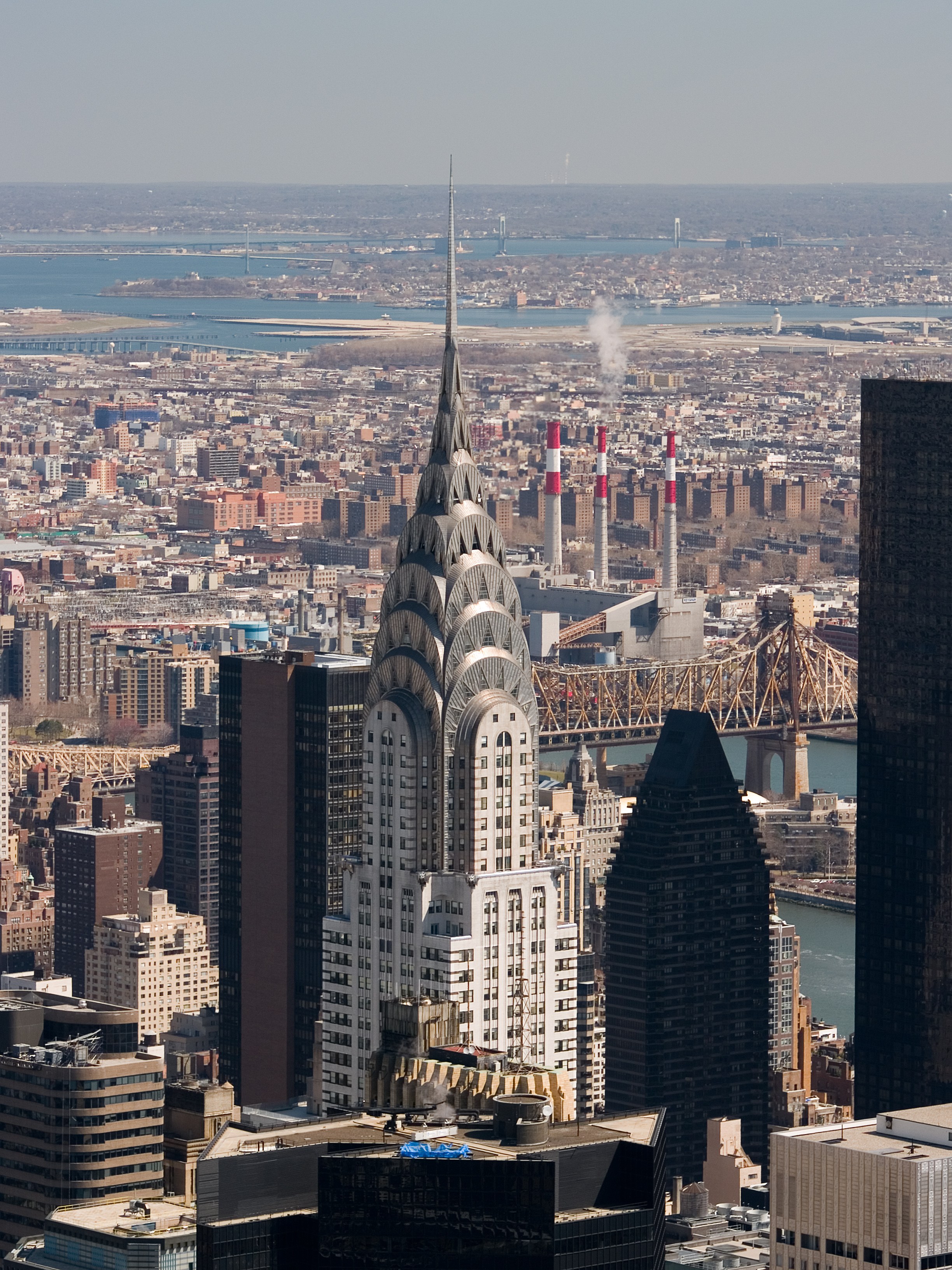 Aerial View From The Empire State Building Of New York Sky Line ...