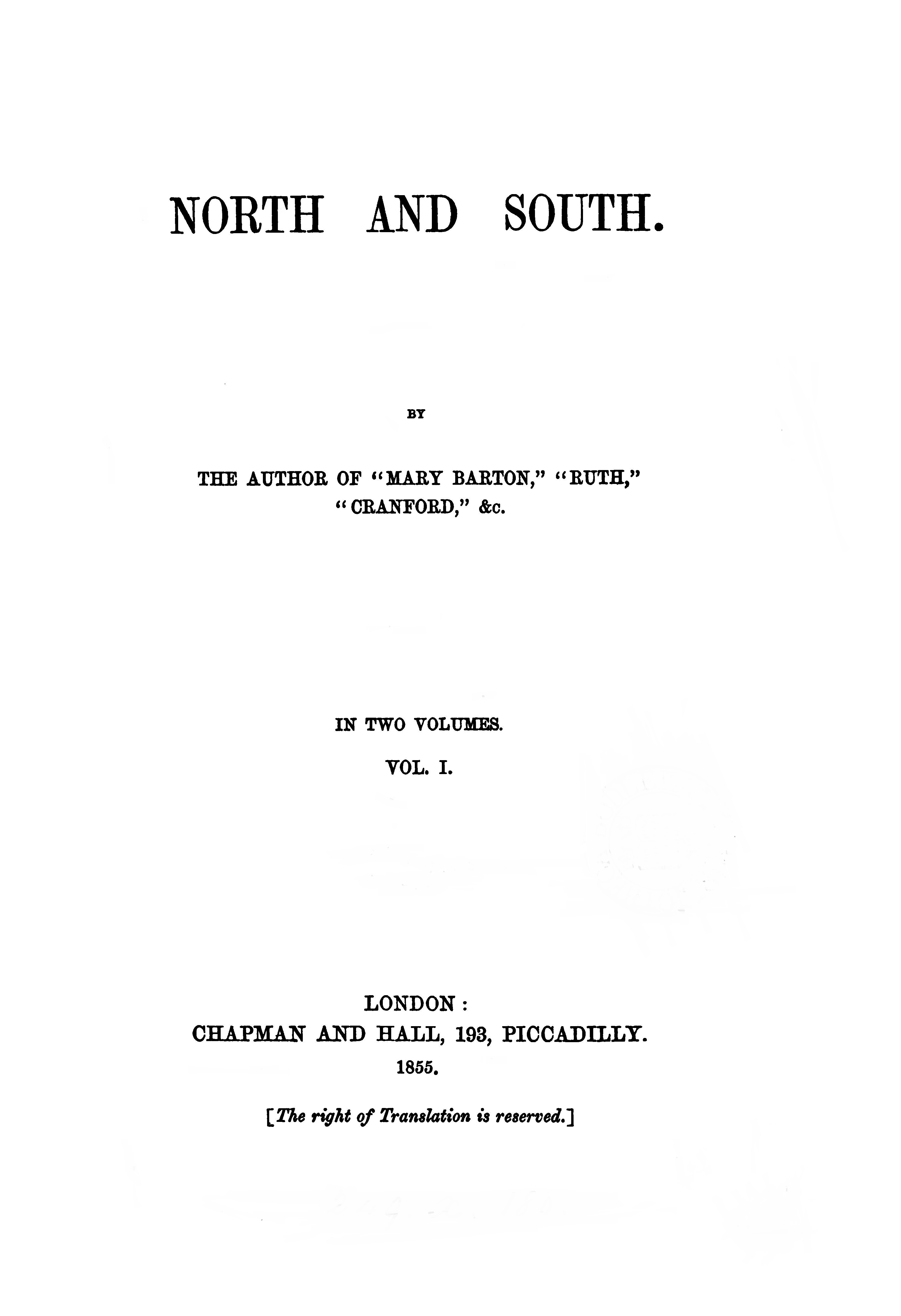 north and south essays by elizabeth gaskell North and south is a novel defined by the resolution of binary conflicts: heroine margaret hale is presented with a number of divisions of sympathy, between.