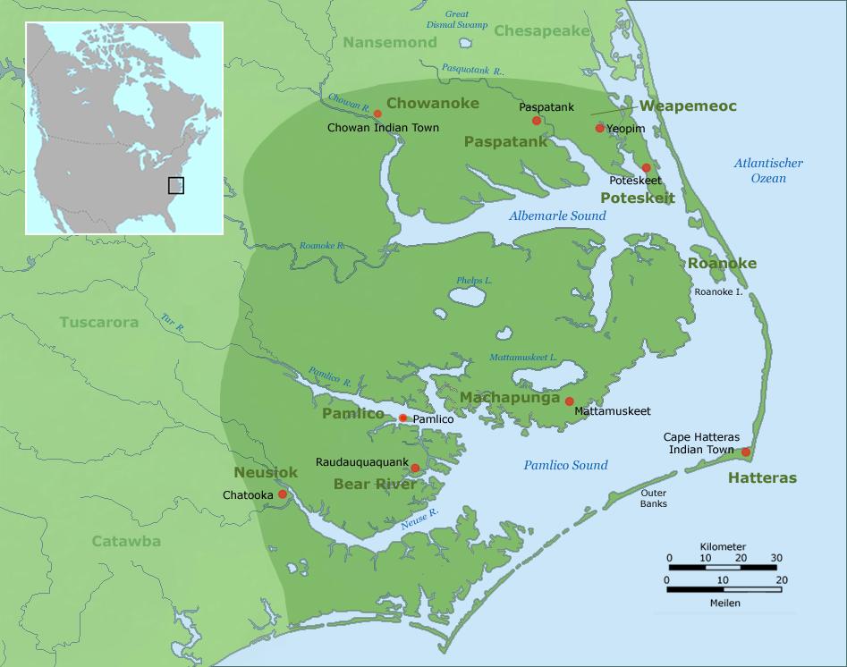 Carolina algonquian language wikipedia sciox Images