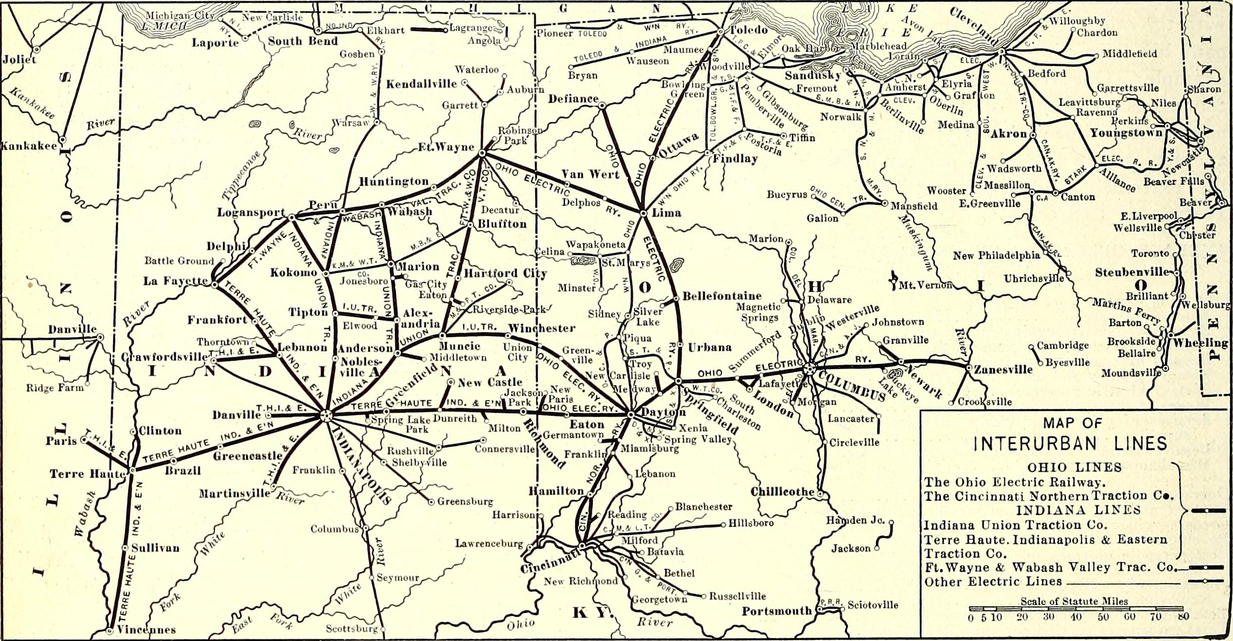 FileOhio Electric Railway Map Jpg Wikimedia Commons - Map ohio