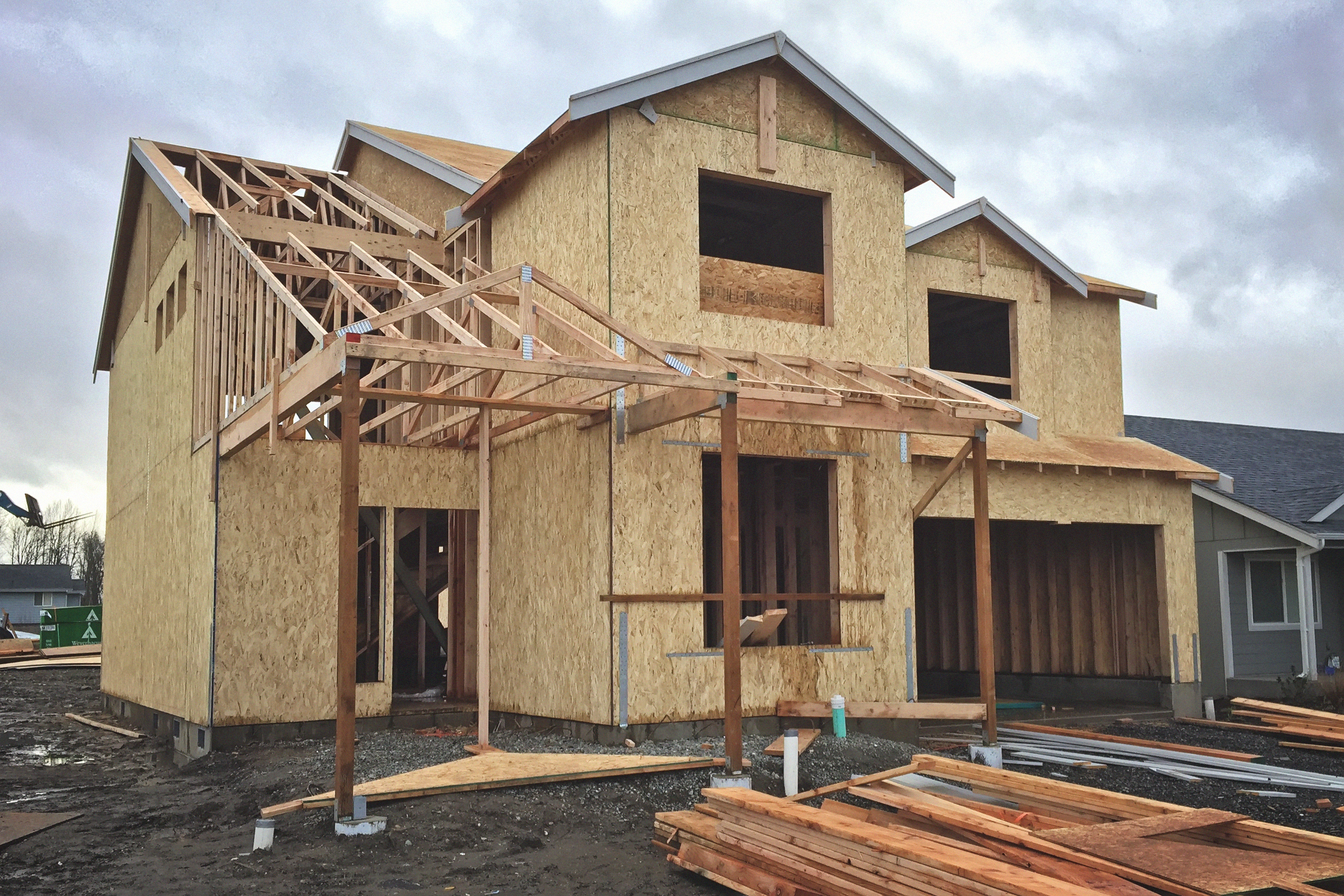 File pacific wa new house under construction for How to build a house in california