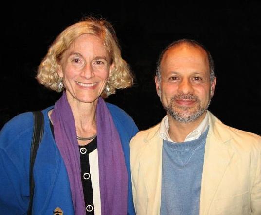 Nussbaum with Iranian political activist [[Akbar Ganji