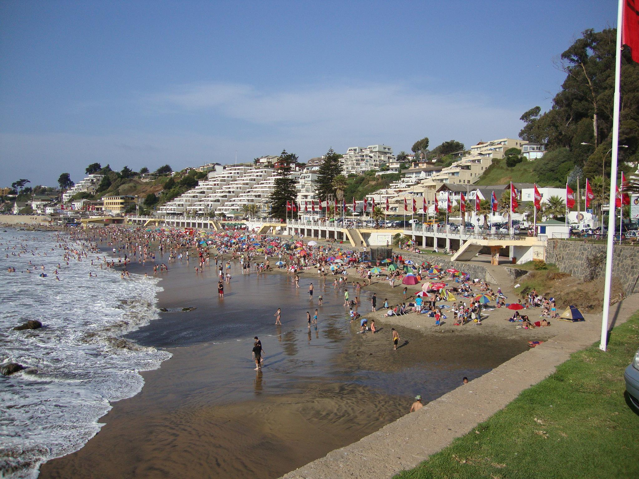Concon Chile  city photos gallery : Playa Amarilla Concón Wikimedia Commons