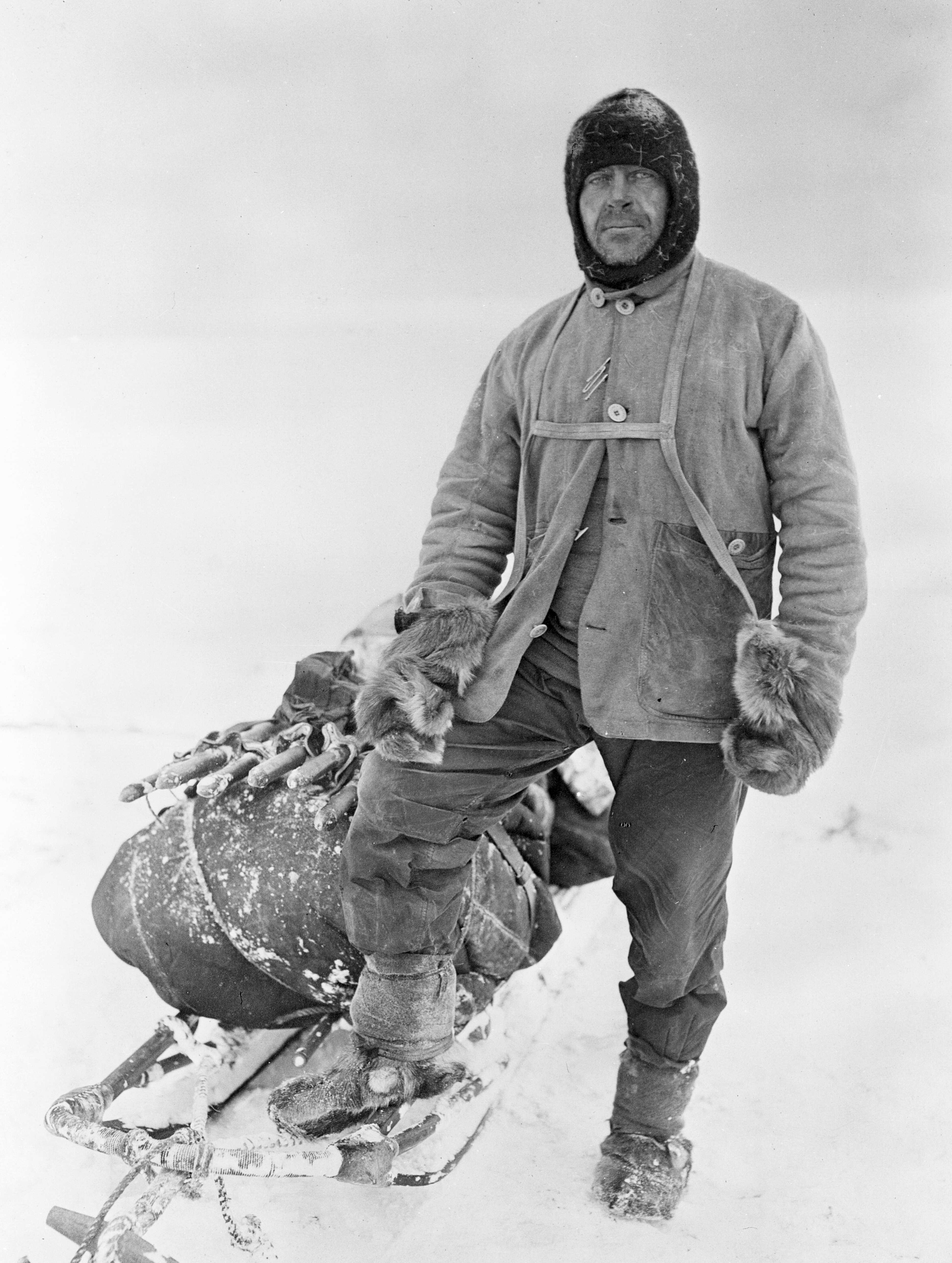 Captain Robert Falcon Scott, photographed by Herbert Ponting in 1911