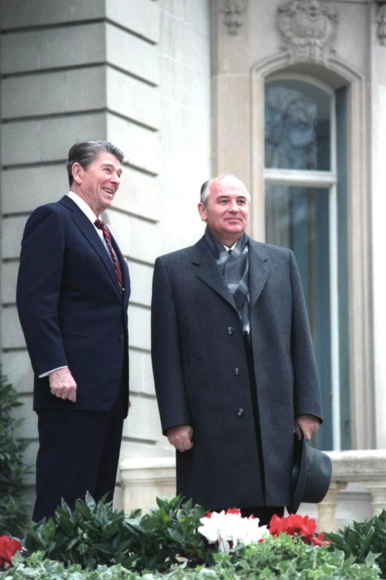 Reagan and Gorbachev in Switzerland