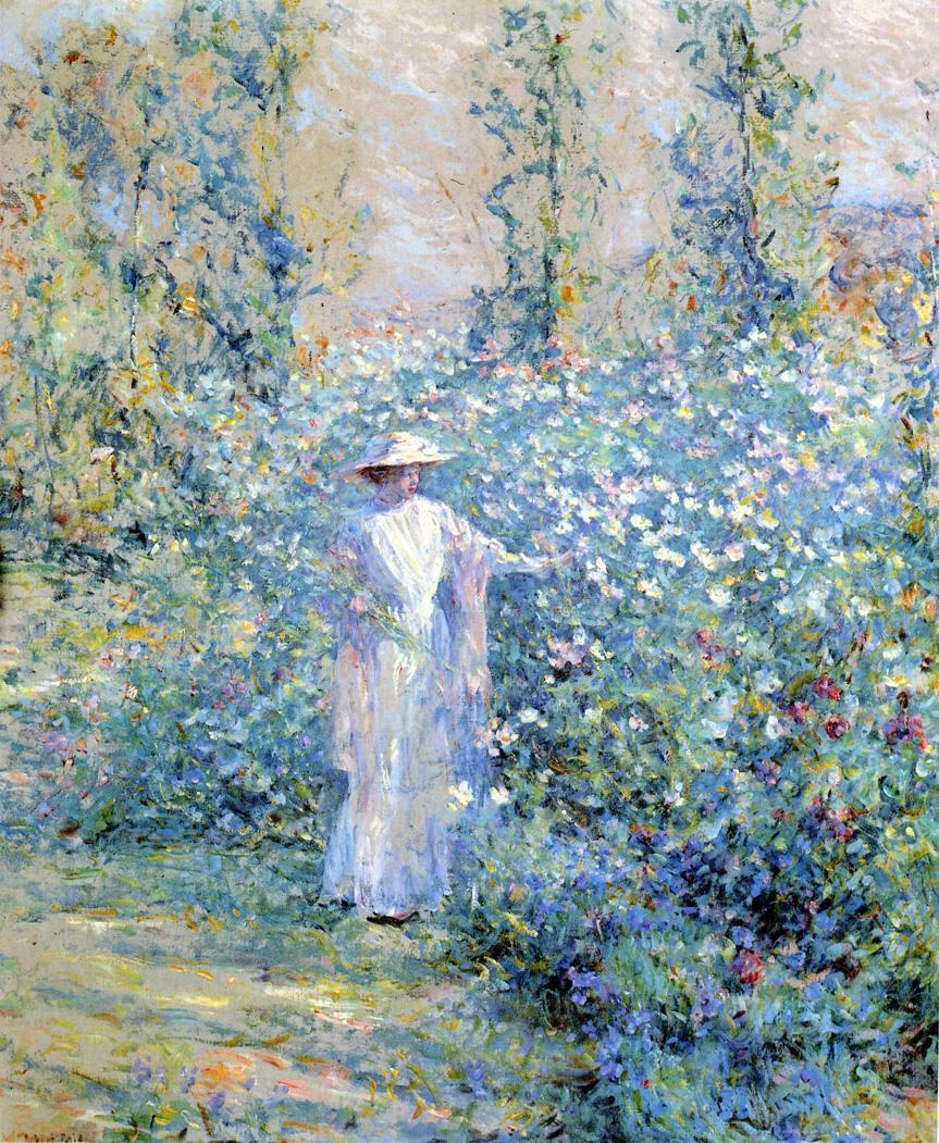 File Reid Robert Lewis In the Flower Garden Wikimedia mons