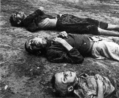 The Russian famine of 1921 killed an estimated five million people. Russia Famine Saratov 1921.jpg