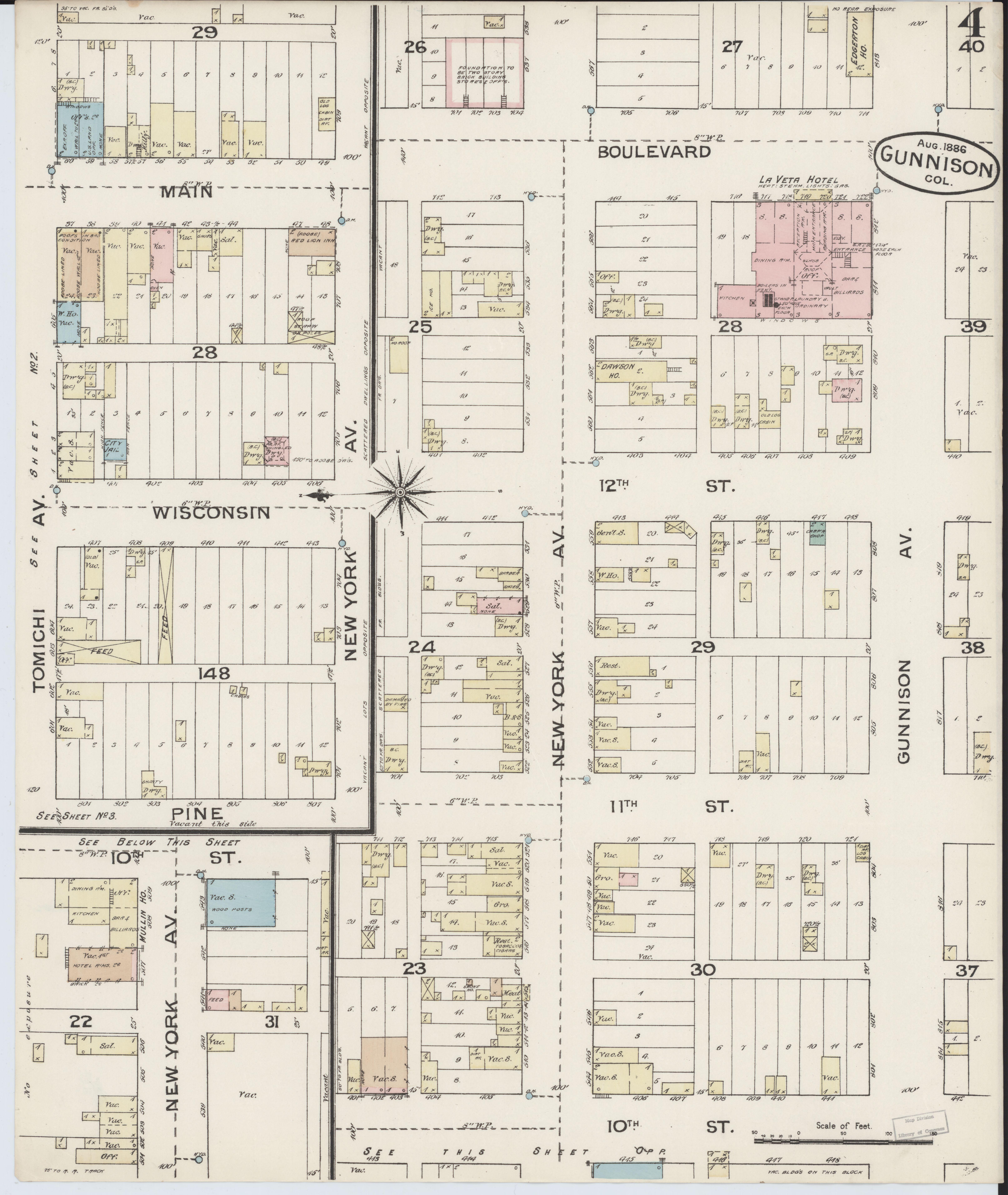 Gunnison County Colorado Map.File Sanborn Fire Insurance Map From Gunnison Gunnison County
