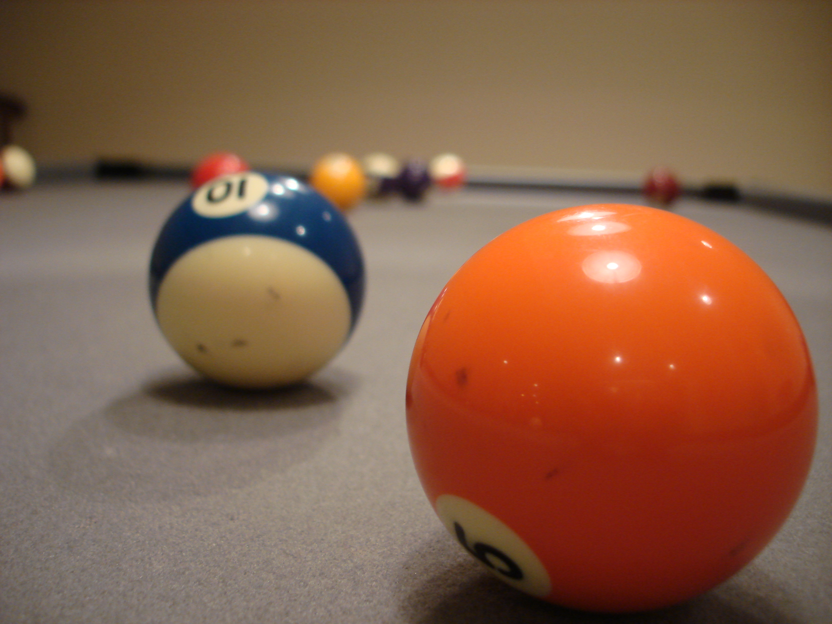 Pool Table Balls Scattered Billiards Pics...