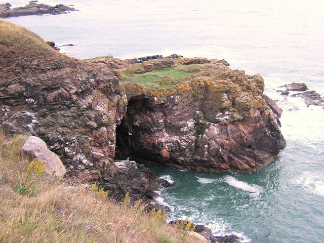 Tempest's Cavern The_Colsea_Yawn_cliff_cave_near_Cove_Bay,_Aberdeen_-_geograph.org.uk_-_409131