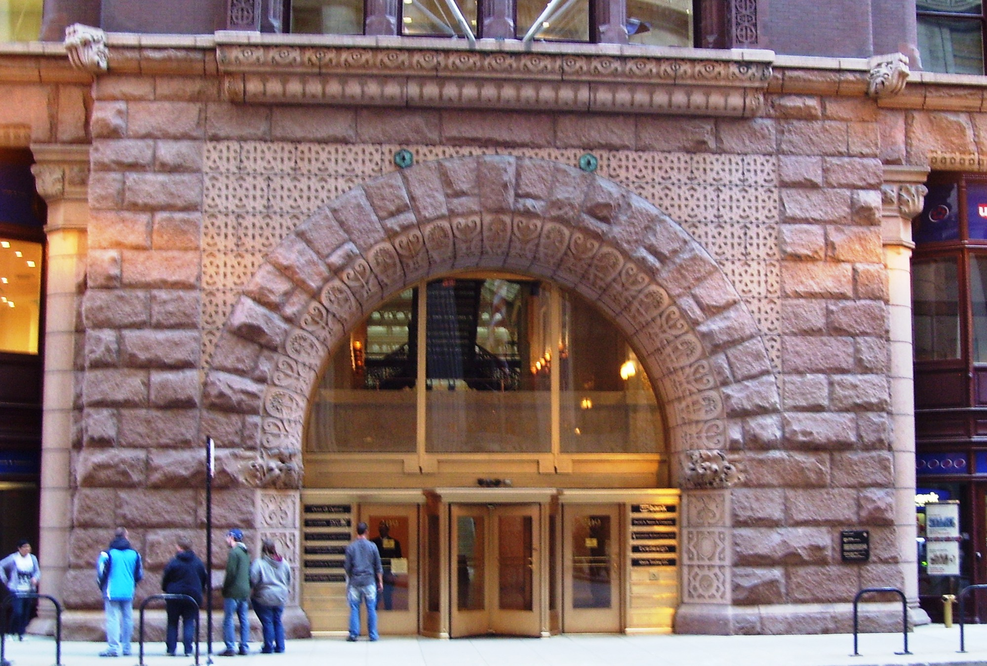 File The Rookery 209 South Lasalle Street Entrance Jpg Wikimedia