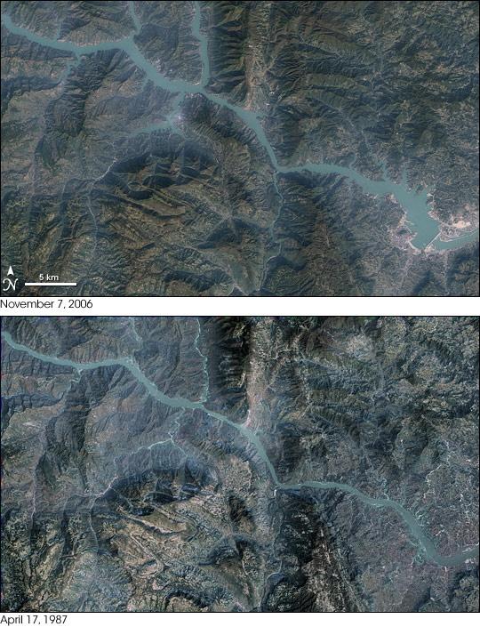 Największa elektrownia wodna na świecie - widok z powietrza