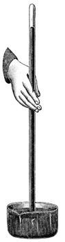 Una stampa raffigurante il tubo di Torricelli