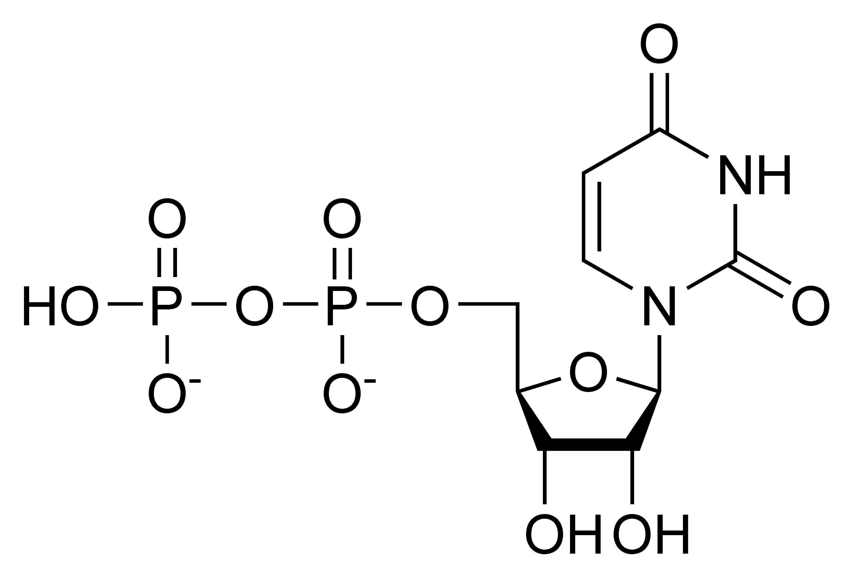 Chemical structure of uridine diphosphate